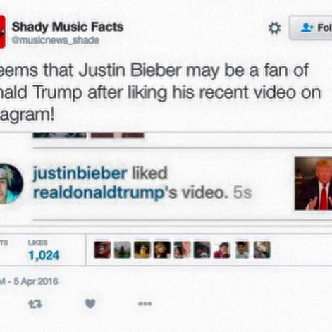 Justin fa pubblicità gratis a Donadl