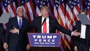 Trump fa un discorso politico per la vittoria