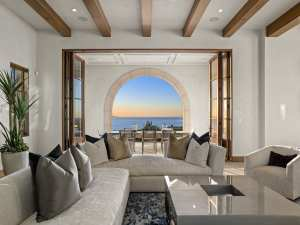 Crystal Cove interior design - family room in crystal cove home, family room furniture design