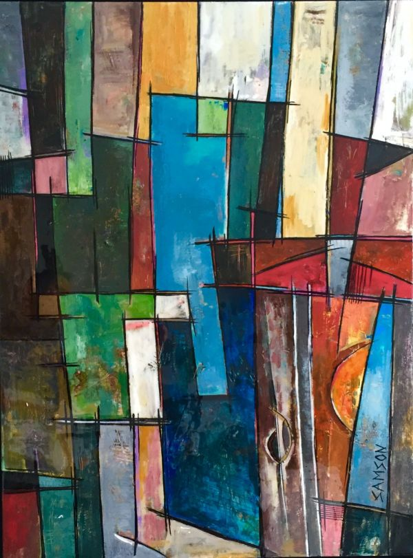 Abstract Paintings Oil & Acrylic Marc Samson
