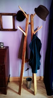 Speak to us about our custom wooden hatstandand coatstand. Perfect for your modern rustic hallway, our furniture is all designed and handmade in Somerset UK. by Marc wood Joinery. Available to buy on Etsy.