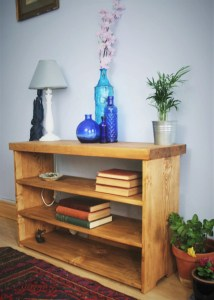 Our chunky shelves feature an extra thick 'table top' and can be used as a hall bench, we are happy to make any size you need.