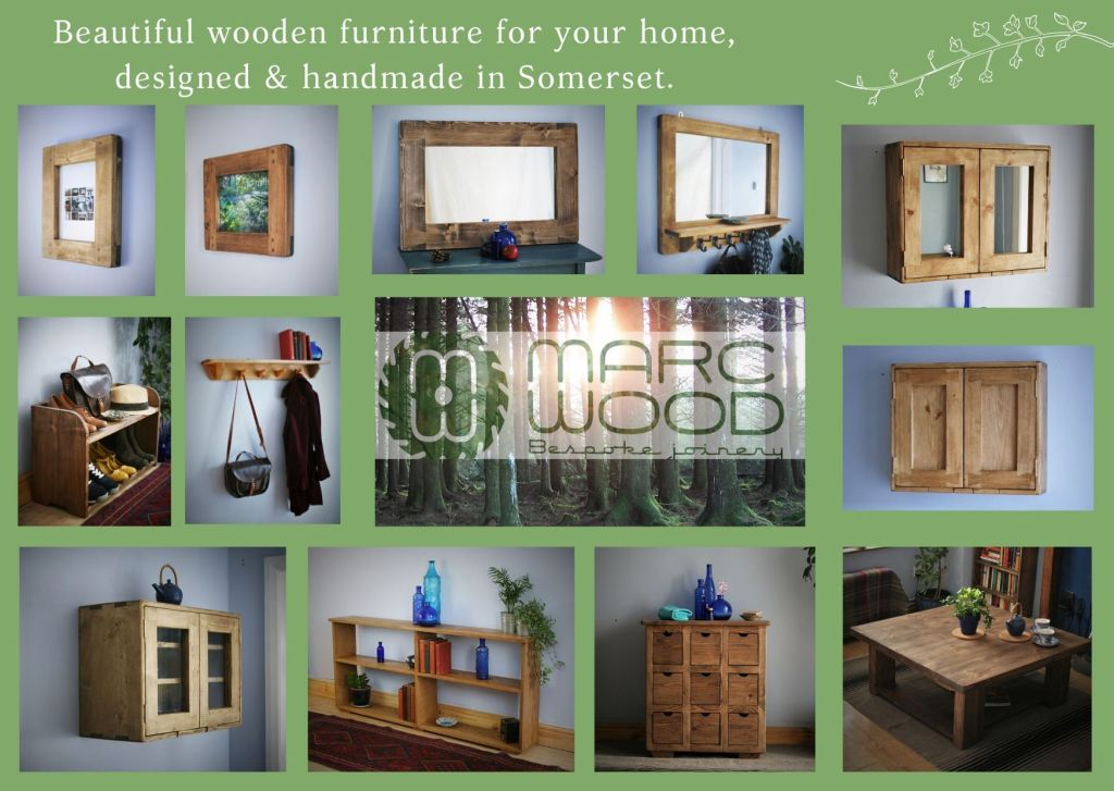 Our modern rustic handmade solid wooden furniture can be custom made to any size; bathroom wall cabinets, coffee tables, bookcases, kitchen cabinets, shelves and bedroom furniture available in sustainable real, natural wood.