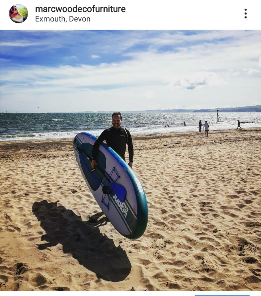 This year we celebrated Marc's birthday at Exmouth beach in Devon so he could use his new paddle board and take a break from the Marc Wood Joinery wooden furniture workshop in Somerset.