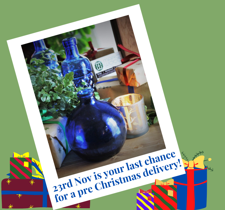 Contact us before 23rd November for a pre Christmas delivery Our cabinets and larger pieces remain at 6 weeks (down from 8) but we are able to accommodate pre Christmas deliveries for most of our mirrors and for all of our picture frames if purchased by Monday 23rd November.