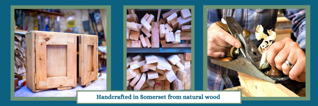 Furniture, picture frame and mirrors using traditional dovetail joint techniques, handmade from natural wood by Marc Wood Joinery in Somerset UK