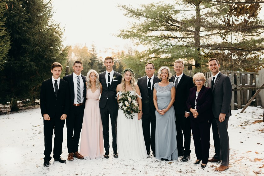 family photos for wedding at bellamere winery in london, ontario