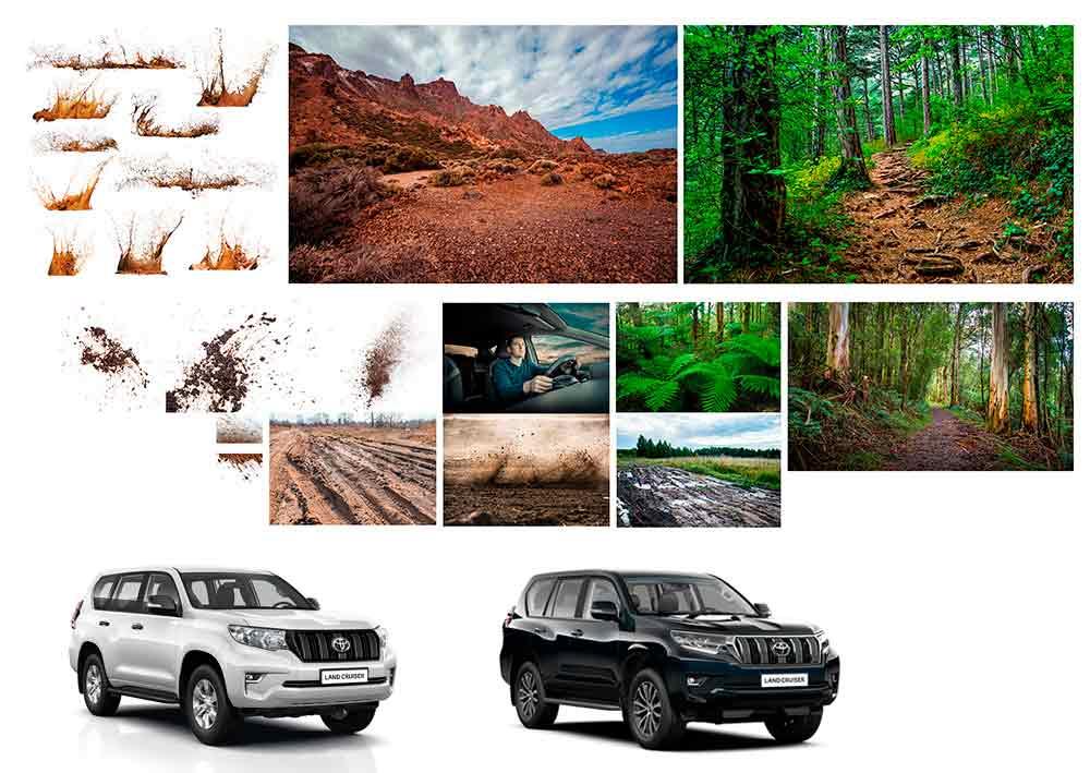 Toyota Landcruiser base images
