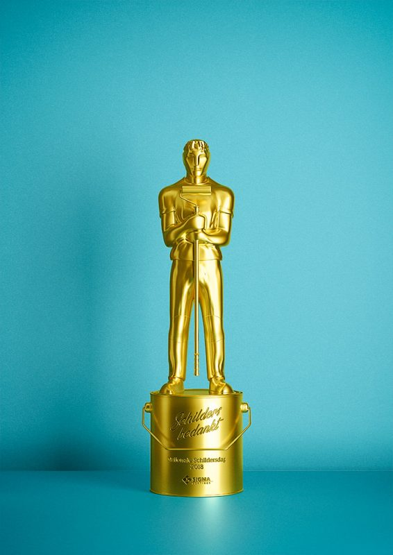 3D model of an Oscar for the best house painter