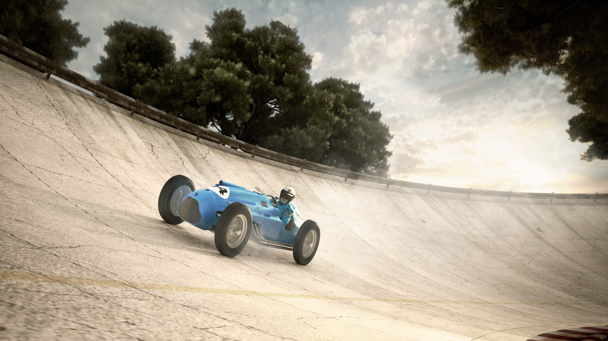 CGI image of the 1948 Talbot Lago T26c racer