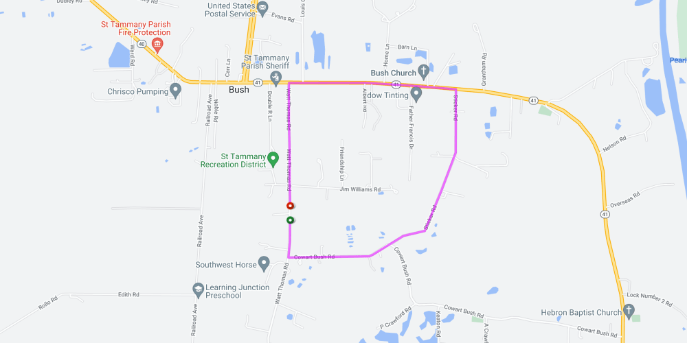 medium resolution of krewe of bush parade route