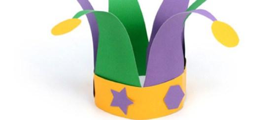 0dd8f6ca65e jester hat pattern template mardi gras kids crafts free