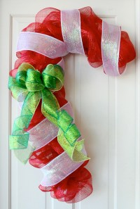 Party Ideas by Mardi Gras Outlet: Candy Cane Door