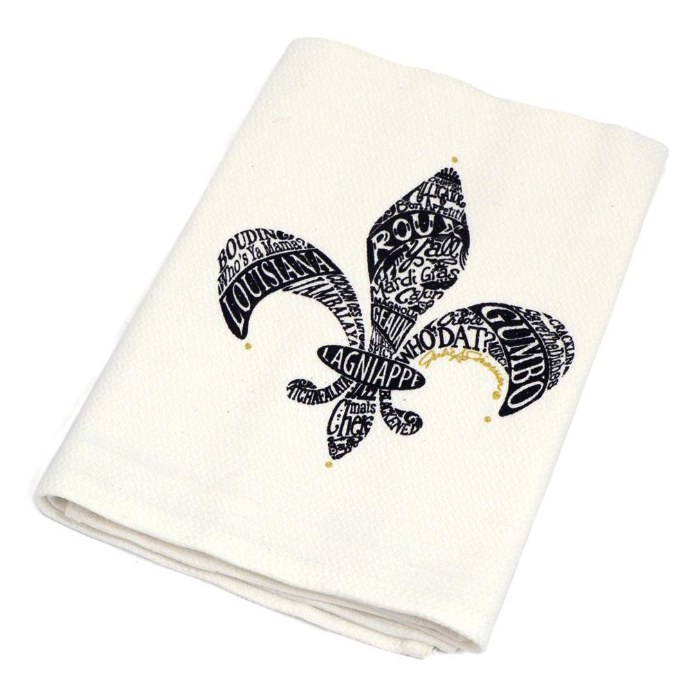 Fleur de Lis Kitchen Towel/Spoon Gift Set [KTS062