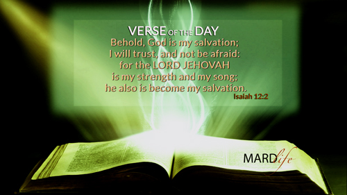 Verse Of The Day: Isaiah 12:1-3