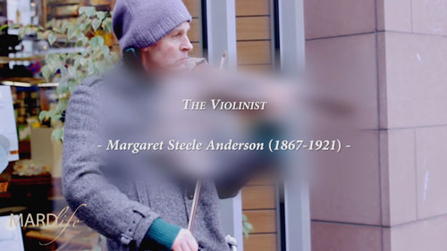 The Violinist, Margaret Steele Anderson, Christ, Vision, Music, Song, Love,