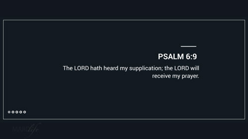 Verse Of The Day: Psalm 6:8-10