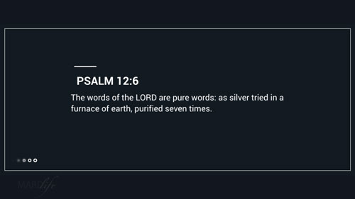 Verse Of The Day: Psalm 12:1-7