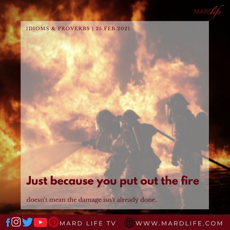A Firefighters' Spirit (IDIOMS AND PROVERBS)
