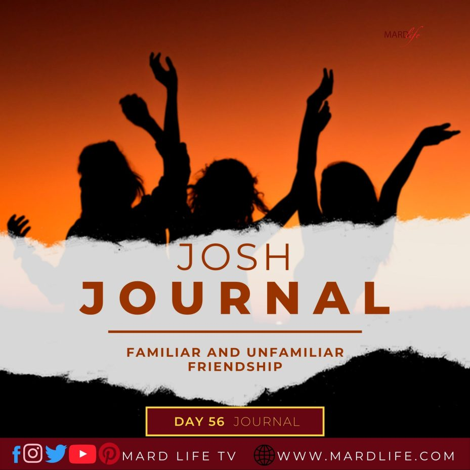 Familiar And Unfamiliar Friendship – Josh Journal