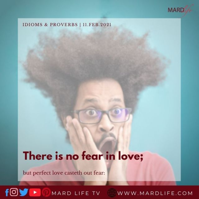 There Is No Fear In Love (IDIOMS AND PROVERBS)
