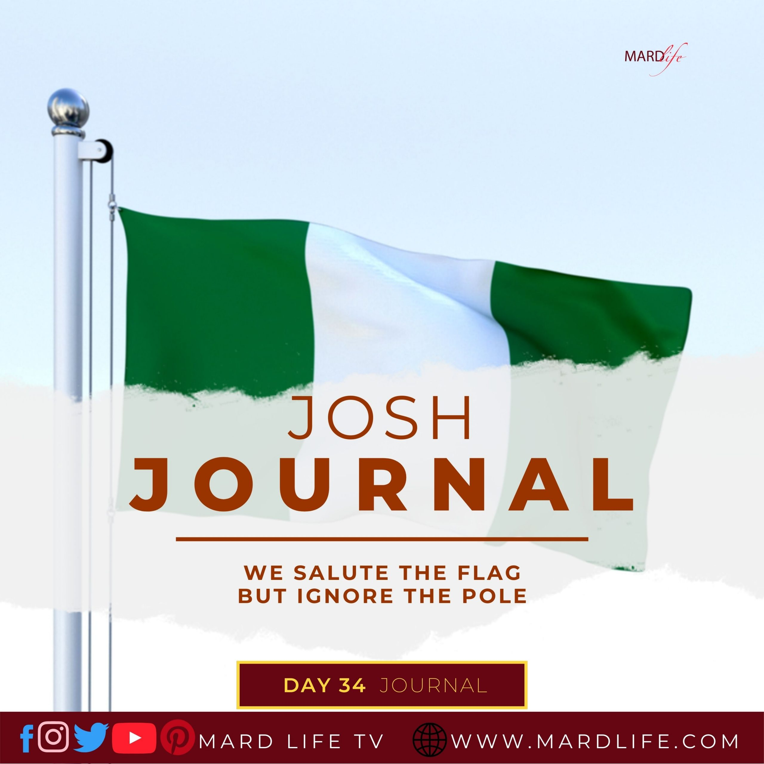 Salute The Flag, Nigerian Flag, Flag, Flagpole, Salute, Respect, Fresh Off The Boat, Jessica Huang, Maverick, Genius, Safety,