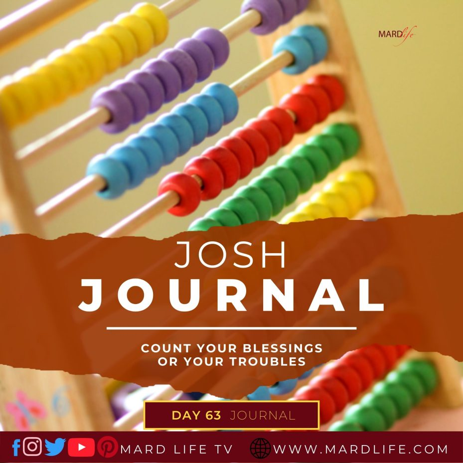 Count Your Blessings Or Your Troubles – Josh Journal