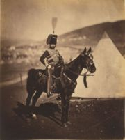 Cornet Henry Wilkin, 11th Hussars, British Army. Photo by Roger Fenton