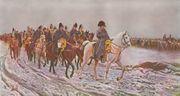 أثناء العودة من حملة نابليون بونابرت على موسكو