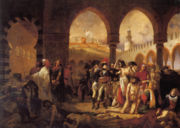 Napoleon visiting the plague victims of Jaffa, by Antoine-Jean Gros