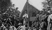 احتفال قسيس جيش اتحاد الروم الكاثوليك بالقداس