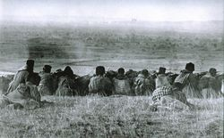 Bulgarian forces waiting to commence their assault on Adrianople