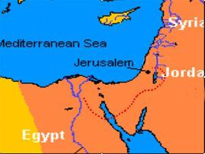 المسار المحتمل لخروج بني إسرائيل من مصر.