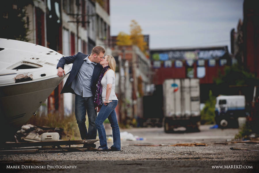 Brittney and Chris  Detroit and Urban Decay Engagement Session  Dziekonski Photography Blog