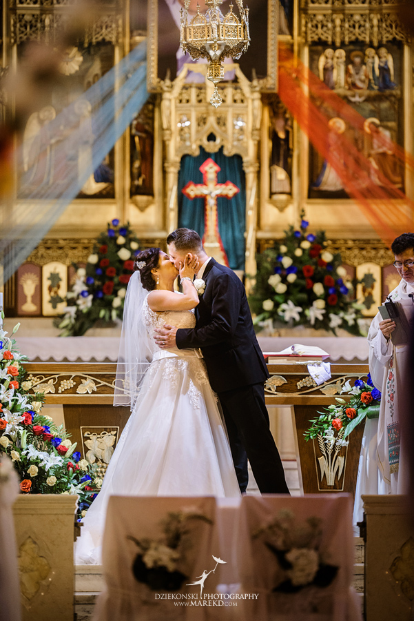 Kathy and Marcins Wedding at St Florian Catholic Church and American Polish Cultural Center
