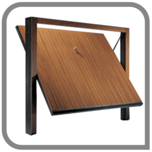 porta basculante timber