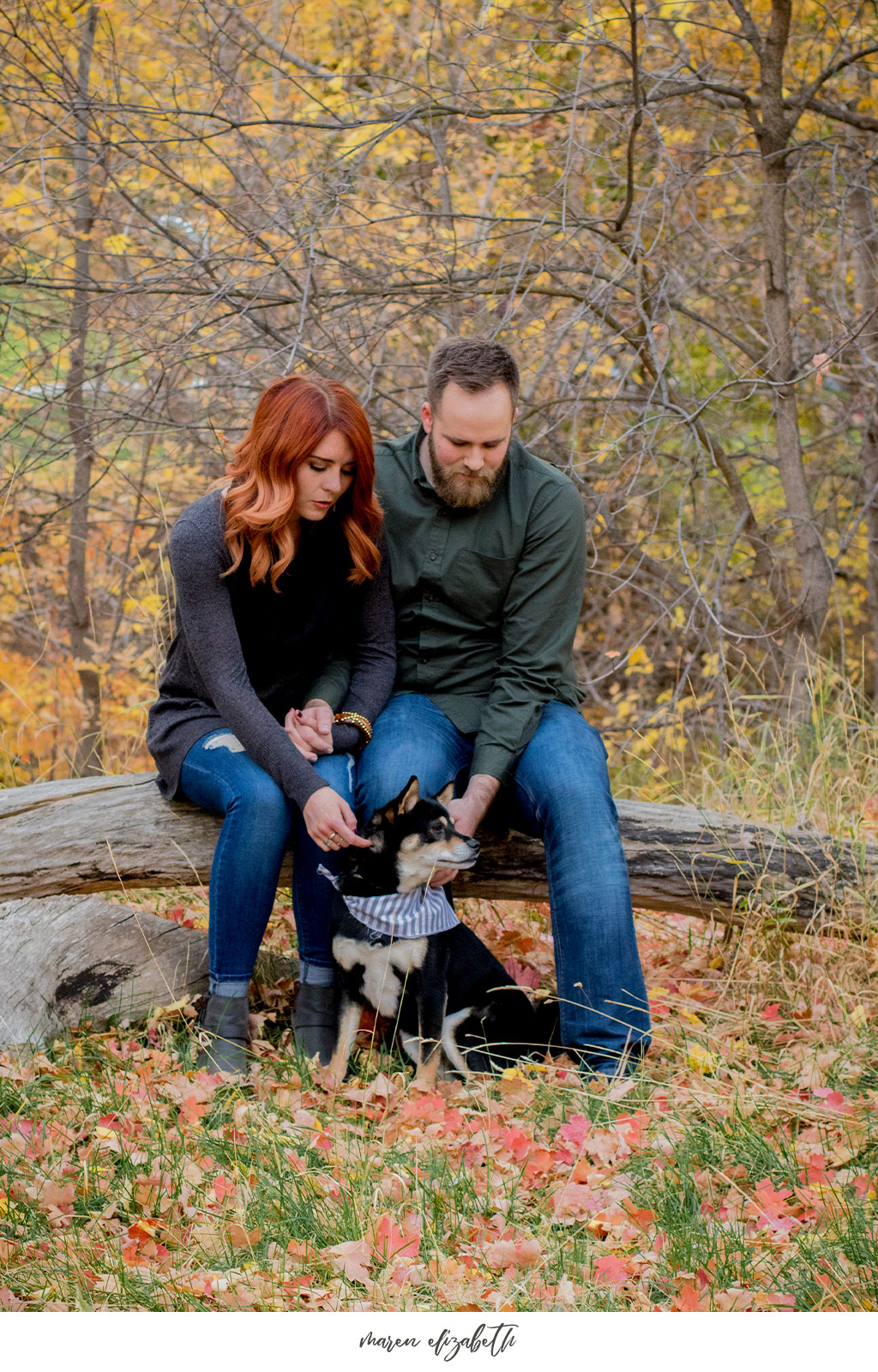 Family pictures with dog at Jolly's Ranch in Hobble Creek Canyon in Utah. | Arizona Family Photographer | Maren Elizabeth Photography