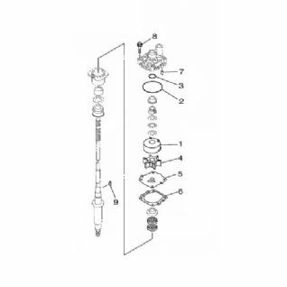 Yamaha 68V-W0078-00 Water Pump Repair Kit / Yamaha F80D 17