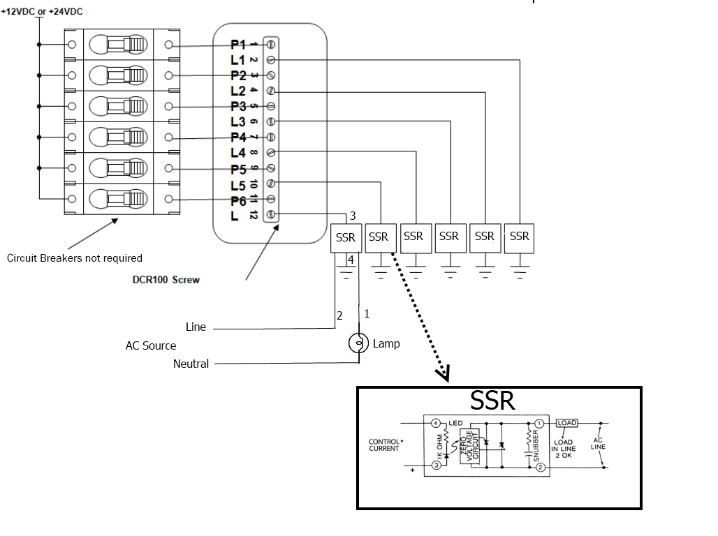 Can I use the DCR100 to switch AC loads?