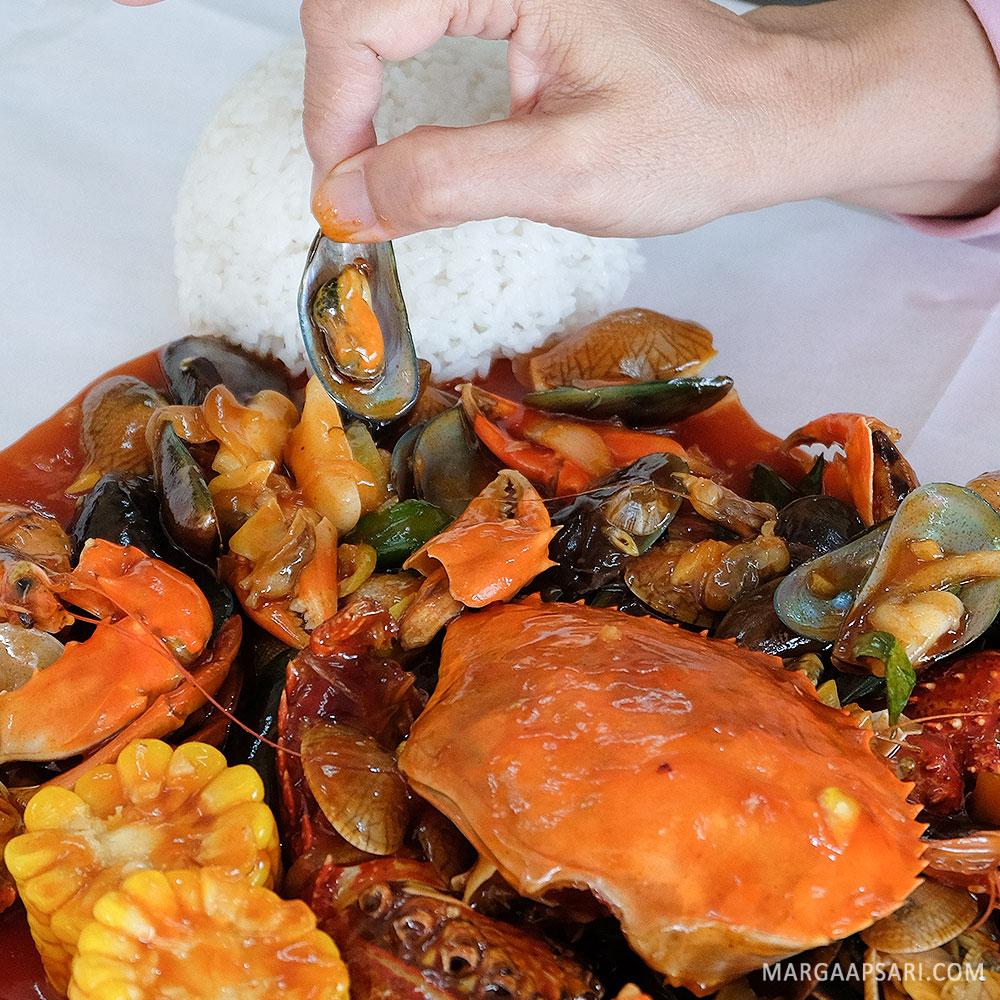 Kerang ijo di Djajan Seafood