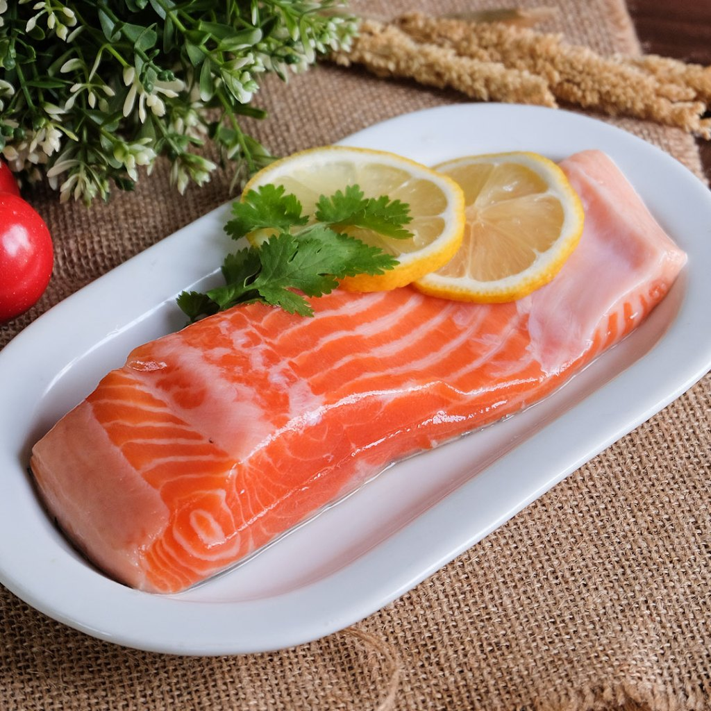 Daging ikan salmon segar