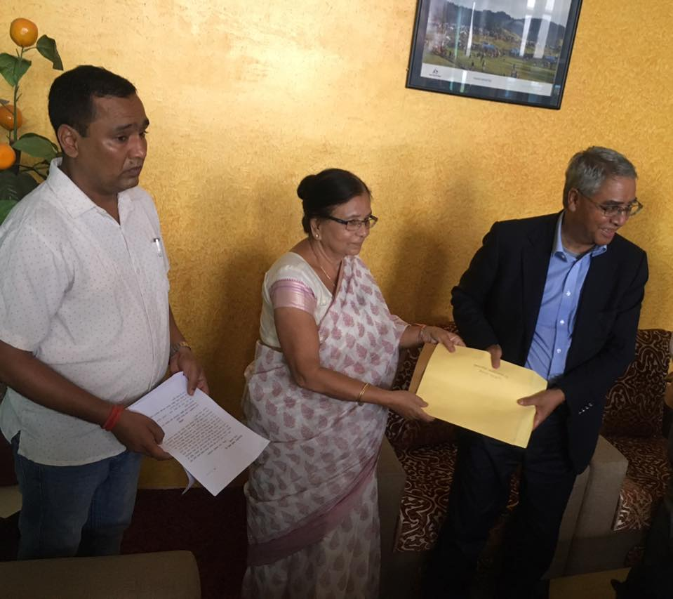 राष्ट्रिय गौरव योजना सिक्टा सिचाई आयोजनाको गुस्तर जाँचको मागगदै बाँके काँग्रेसद्धारा प्रधानमन्त्रीलाई ज्ञापन पत्र