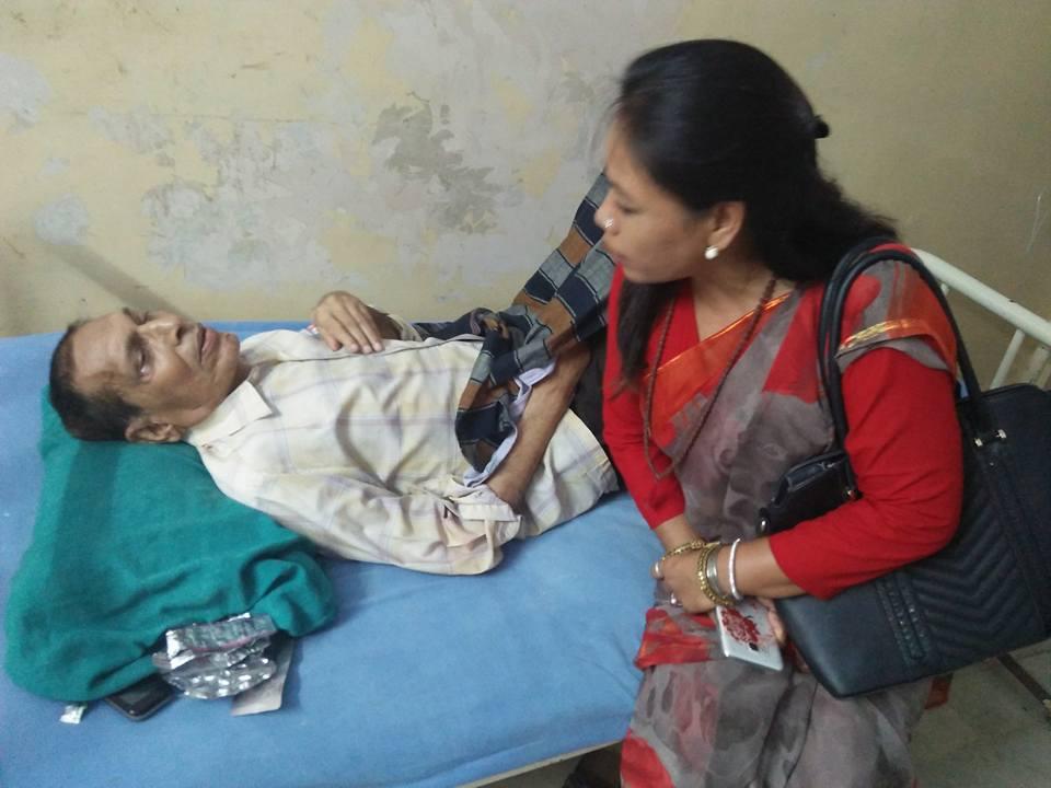 प्रेस स्वतन्त्रसेनानी राम गोपाल बैश्य अस्पतालमा उपमेयर उमा थापा उपाचारमा कुनै कसर बाँकी नराख्न आग्रह