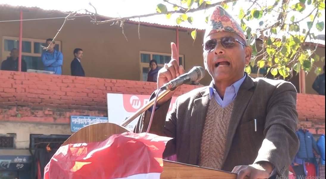नेपानी कांग्रेसले सडक समात्दैन,  समात्यो भने कसैलाई उम्किन दिँदैन नेपाली कांग्रेसका केन्द्रीय सदस्य हृदयराम थानी