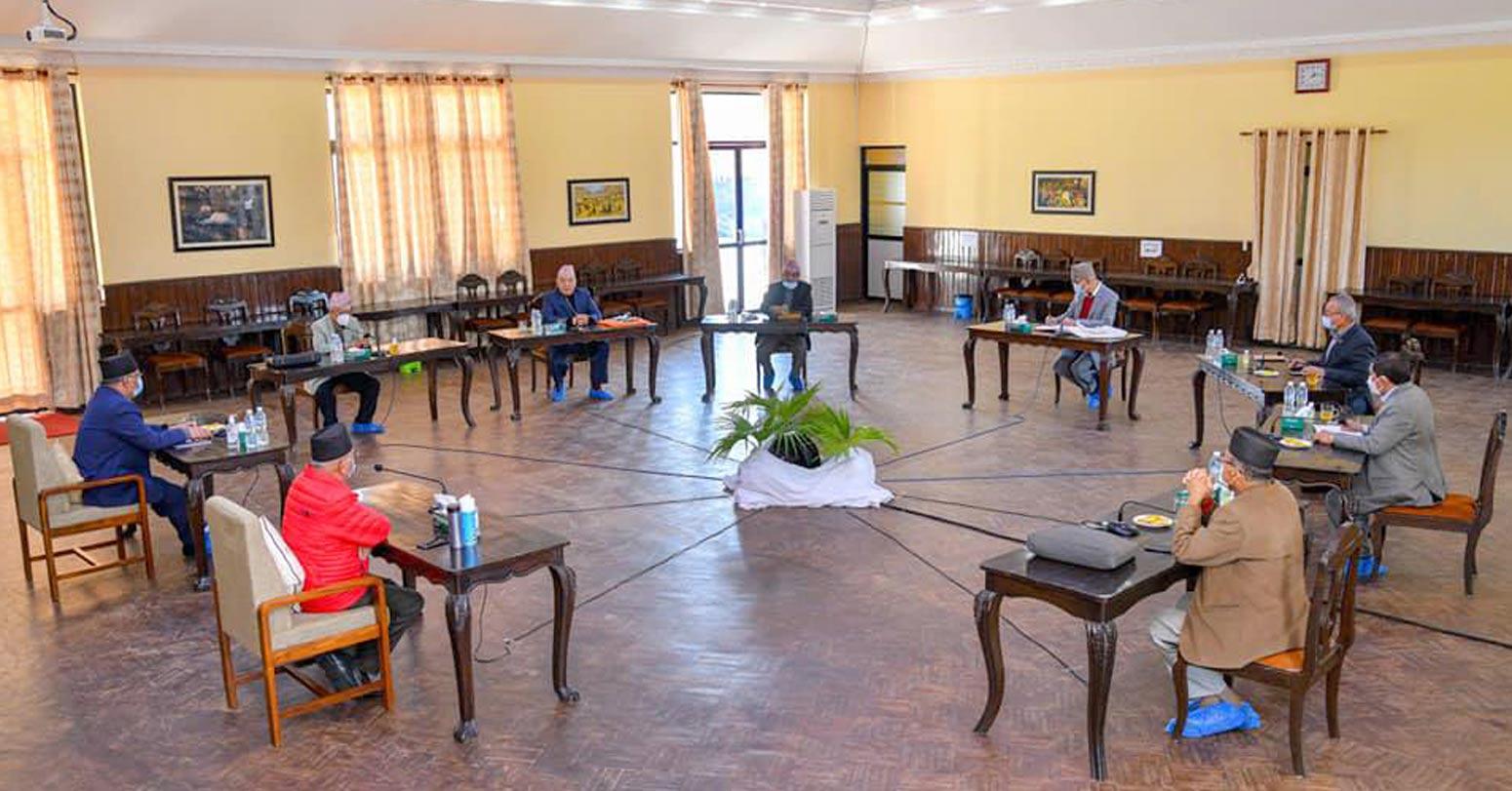 नेकपा सचिवालय बैठक सकियो, अर्को बैठक १० दिनपछि