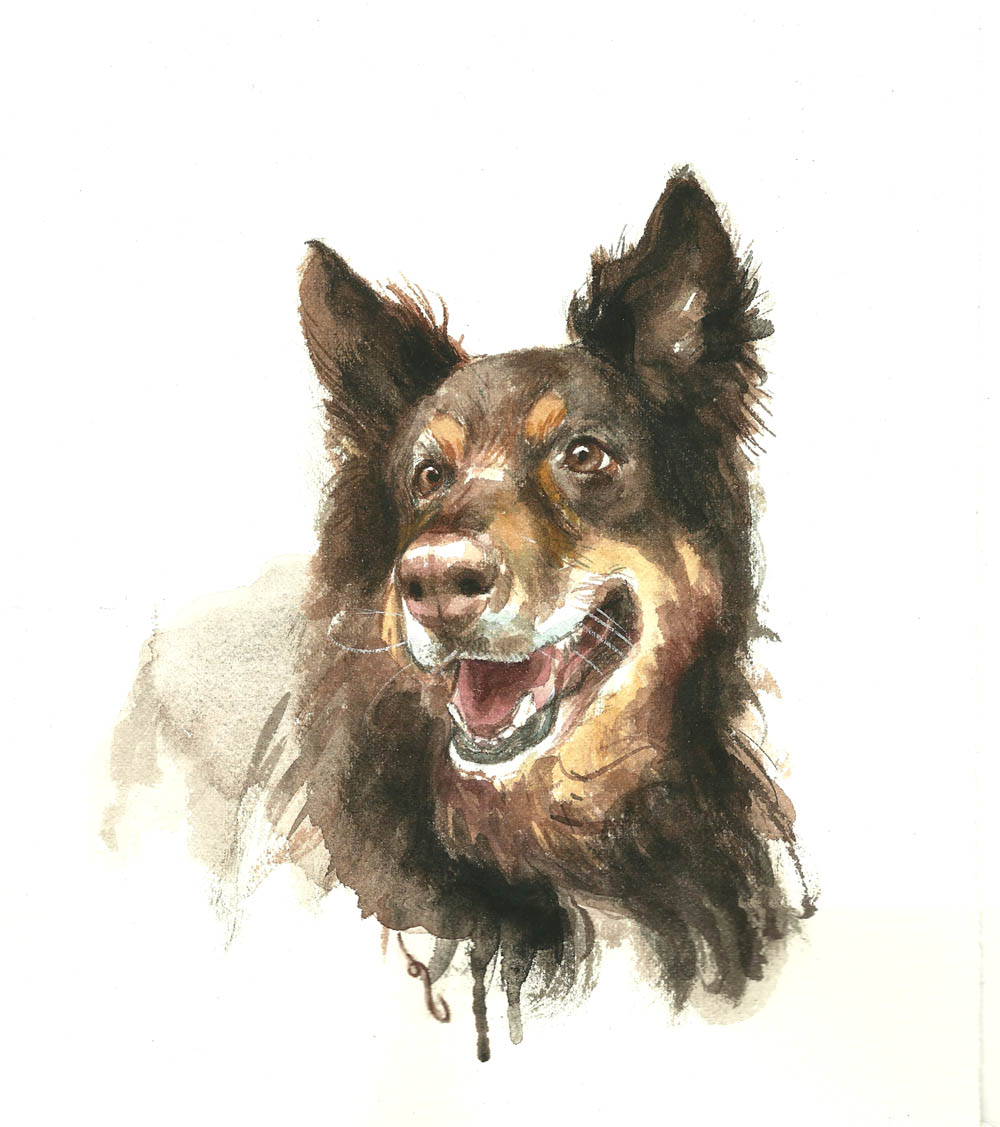Painting of a dog