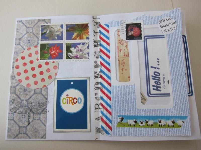 Using scrap paper for making a junk journal