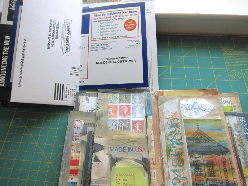 The Process of making a junk mail journal