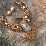 Spirit of Owl beaded collar necklace