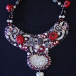 Spirit of Cat beaded collar